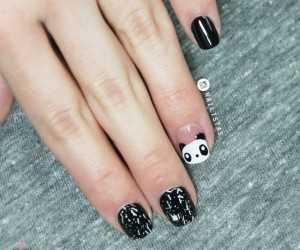 diseños de uñas con amilaes panda nail art