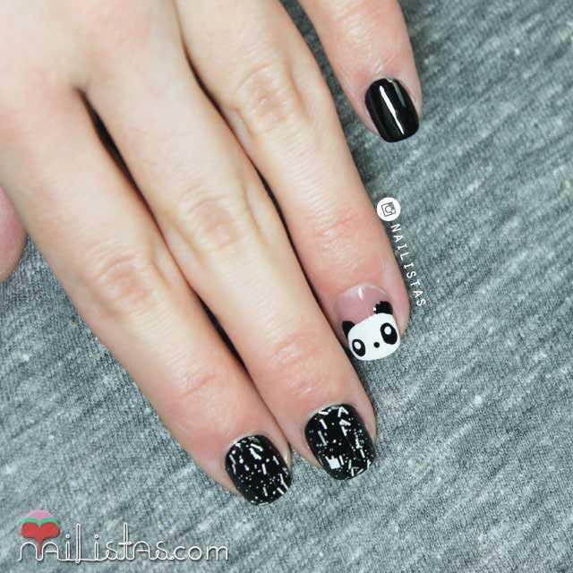 Uñas Decoradas Con Animales Paso A Paso Panda Nail Art