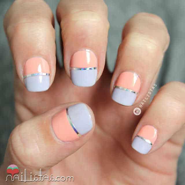 Uñas decoradas con tonos pastel paso a paso 2015