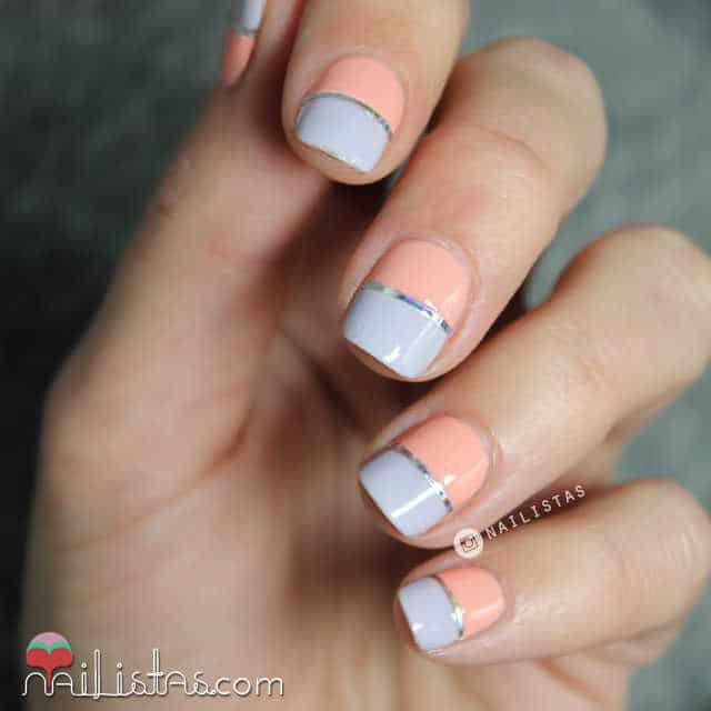 Diseños de uñas colores pastel 2015