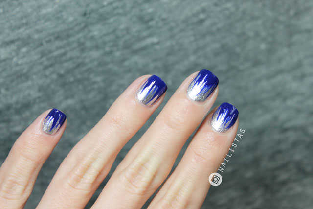 Uñas Azul Klein Y Plata Manicura Fácil Y Rápida