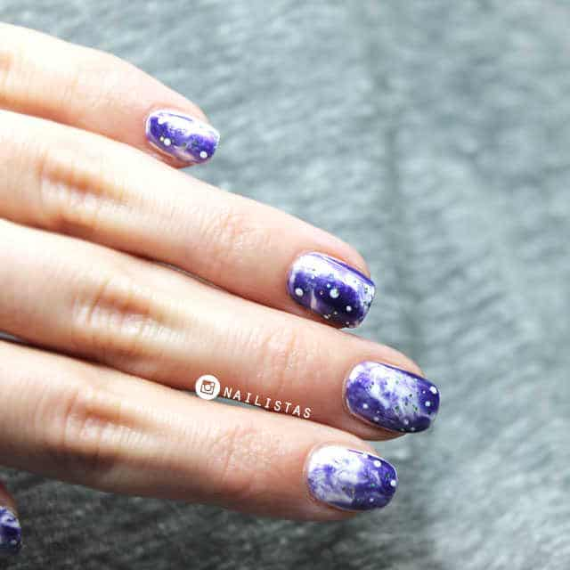 Galaxy nails Uñas decoradas de Galaxias paso a paso