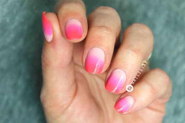 Como hacer un degradado en las uñas paso a paso