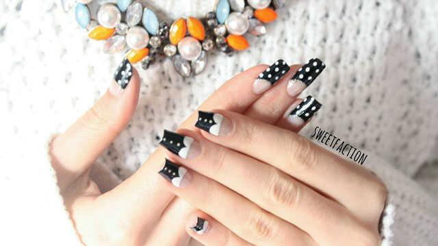 Uñas con lunares ideas de nail art nailistas