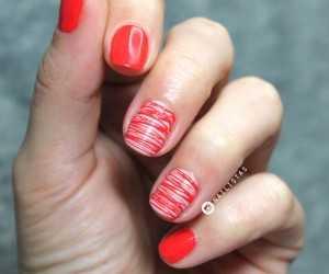 Nail art diseño de uñas fácil en color rojo