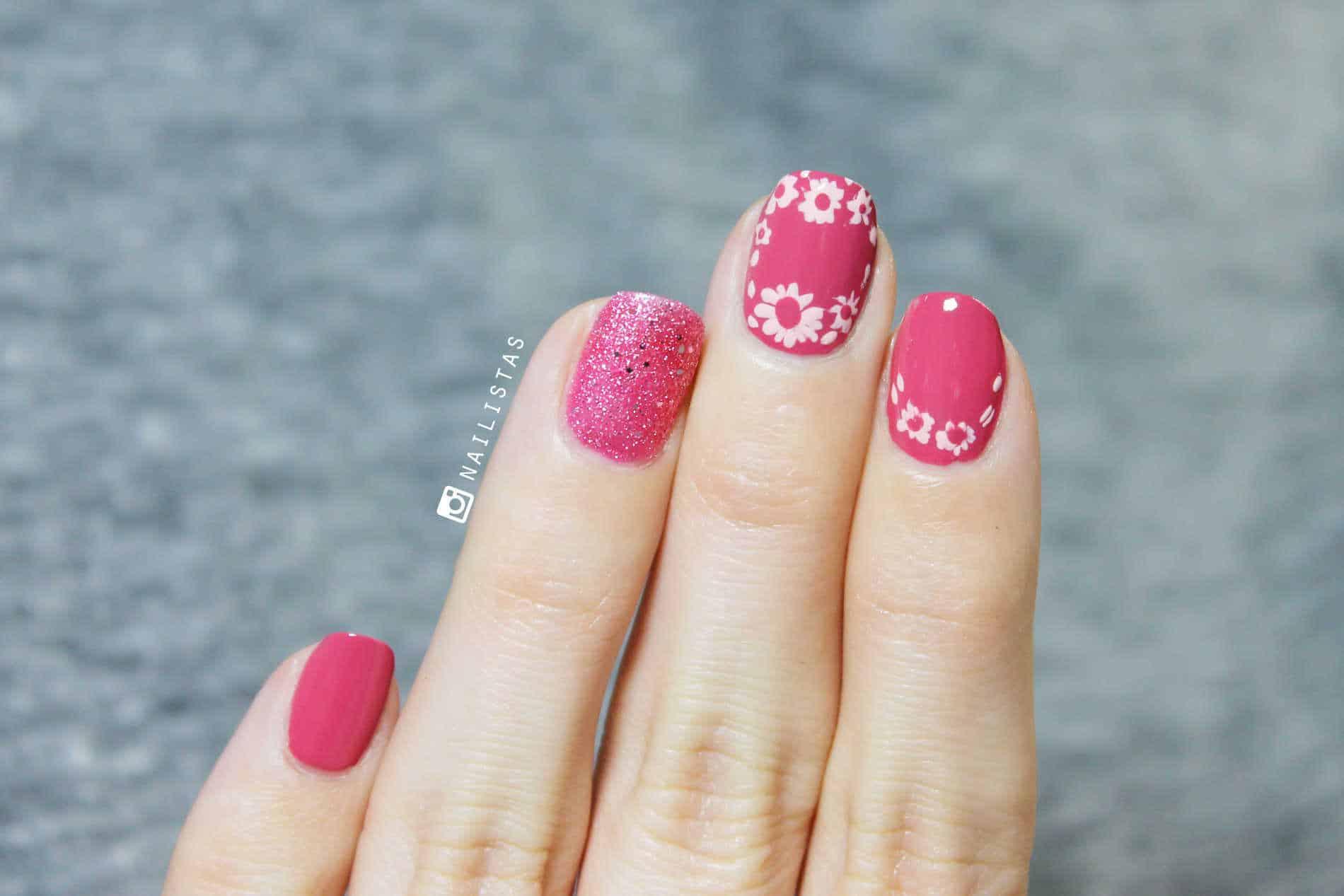 Uñas flores paso a paso nail art