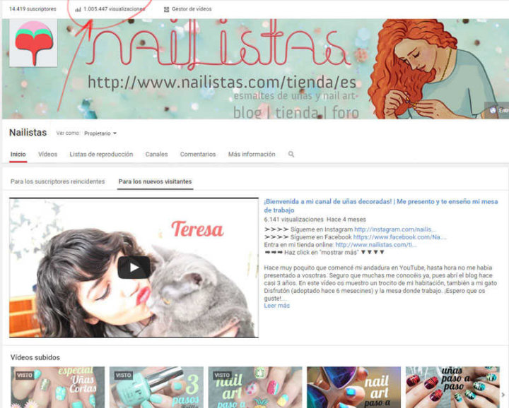 Un Millón En El Canal De Youtube 1 Tutorial De Nail Art