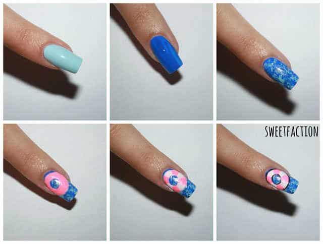 Técnica Saran Wrap paso a paso nail art