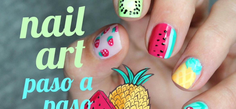 5 diseños de frutas paso a paso nail art