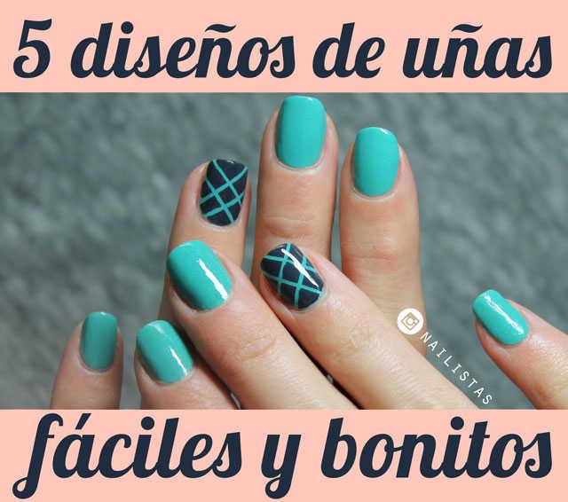 5 diseños de uñas fáciles y bonitos paso a paso