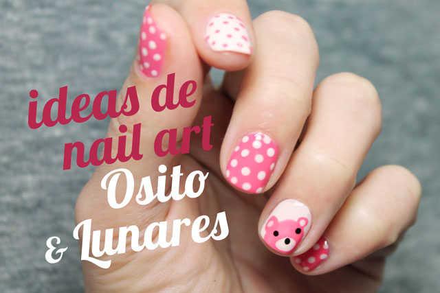 Uñas decoradas paso a paso con aminales oso nail art fácil