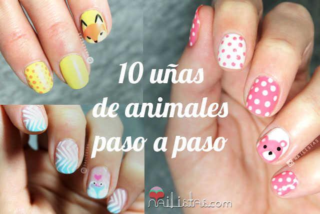 10 uñas de animales paso a paso nail art