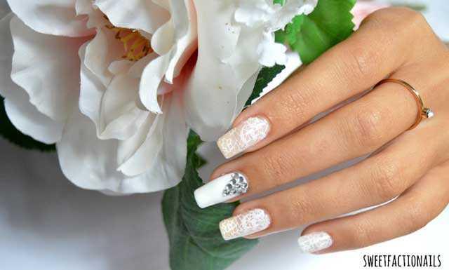 Idea de manicura para novia bodas tendencia 2016