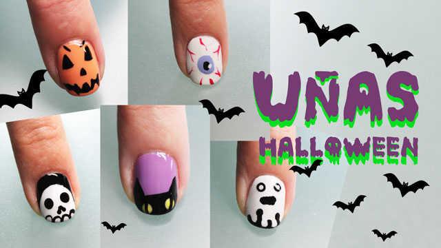 5 uñas decoradas de halloween paso a paso , Nailistas