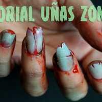 Uñas de Zombie paso a paso Halloween Ideas