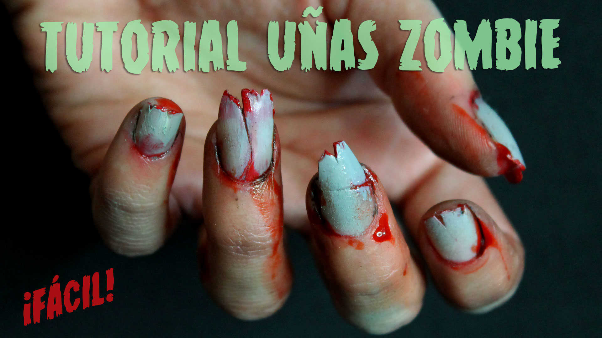 Uñas de Zombie paso a paso