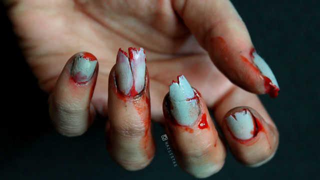 Como hacer uñas de Zombie efectos especiales