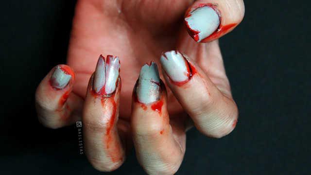 Tutorial uñas de zombie