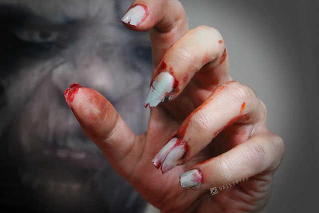 Cómo hacer uás de zombie paso a paso ideas Halloween