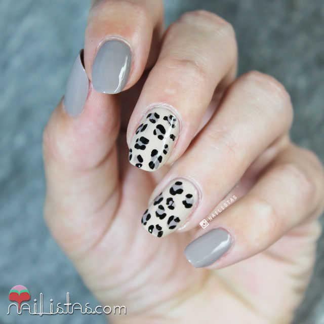 Uñas de leopardo animal print paso a paso