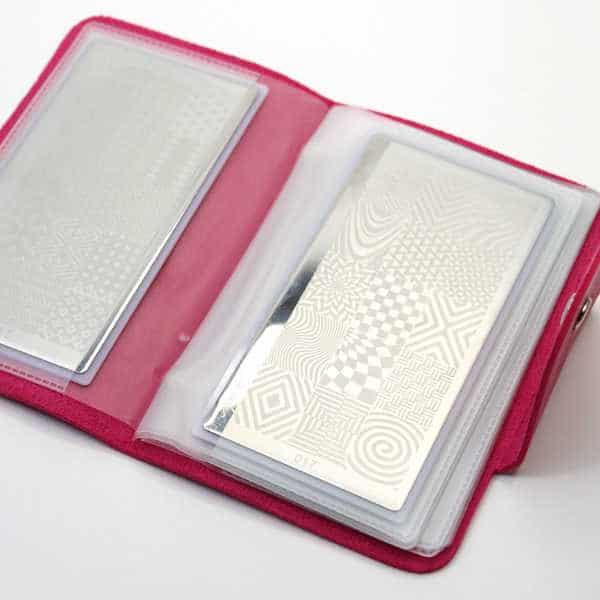 Album para placas de estampación de uñas nail art stamping fucsia