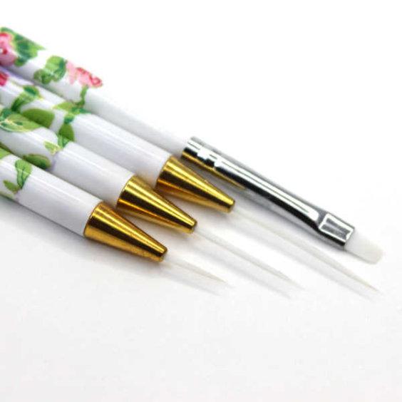 pinceles de nail art para la decoración de uñas