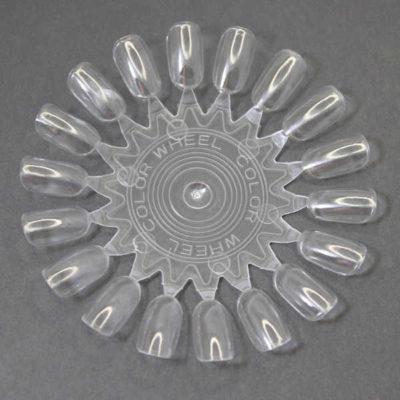 rueda muestrario de nail art esmaltes de uñas transparente