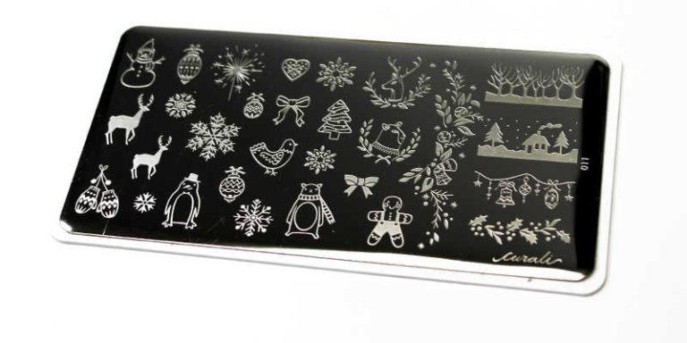 Placa estampación Cural nail stamping Winter Cute