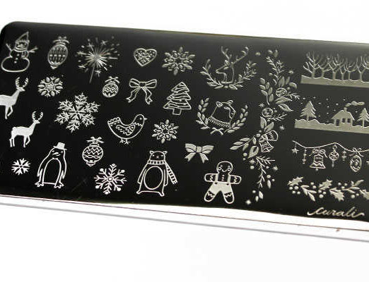 Placa estampación Cural nail stamping Winter Cute