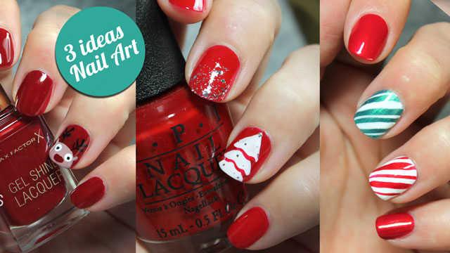 3 ideas para decorar tus uñas en Navidad paso a paso