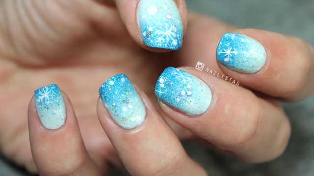 tutorial uñas frozen paso a paso diseños de uñas