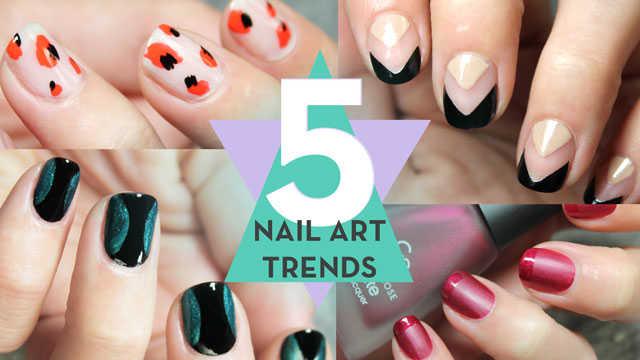 5 tendencias de uñas 2016 paso a paso tutorial