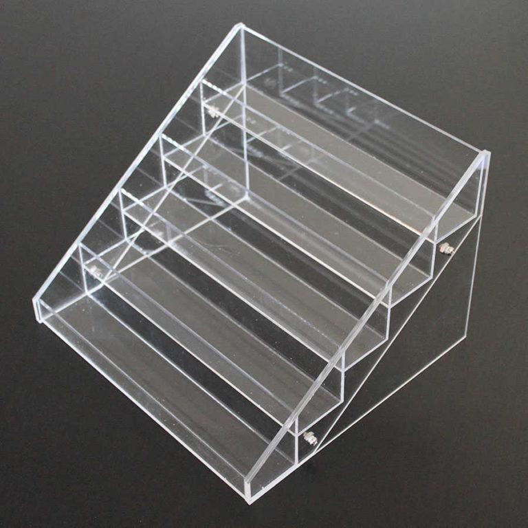 Expositor de esmaltes de uñas almacenaje de esmaltes de uñas metacrilato escalera display