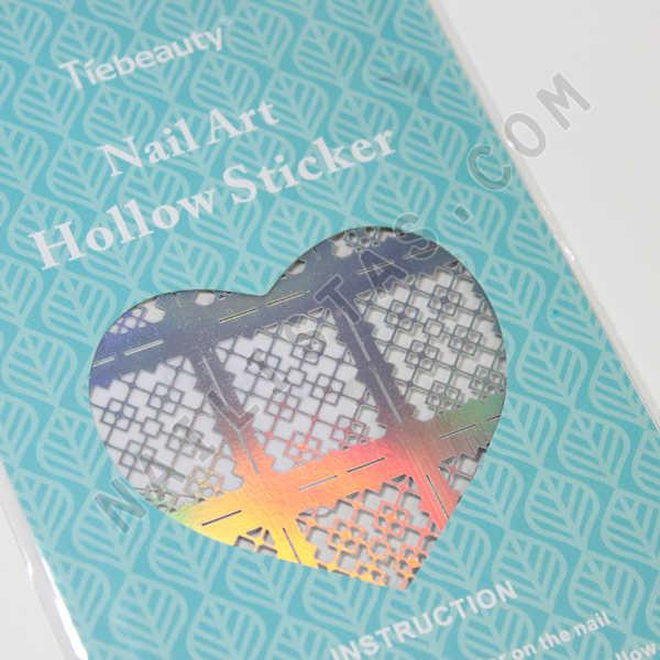 plantilla de vinilo para uñas stencil nail art