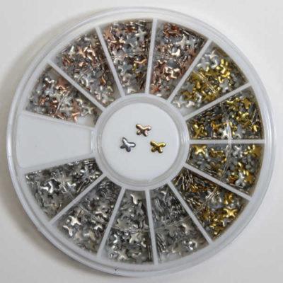 rueda de decoración de uñas mariposas