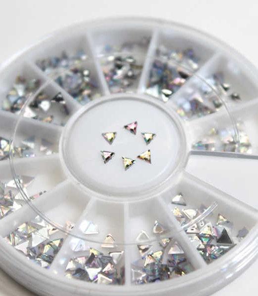 rueda de decoracion de uñas estrellas nacaradas
