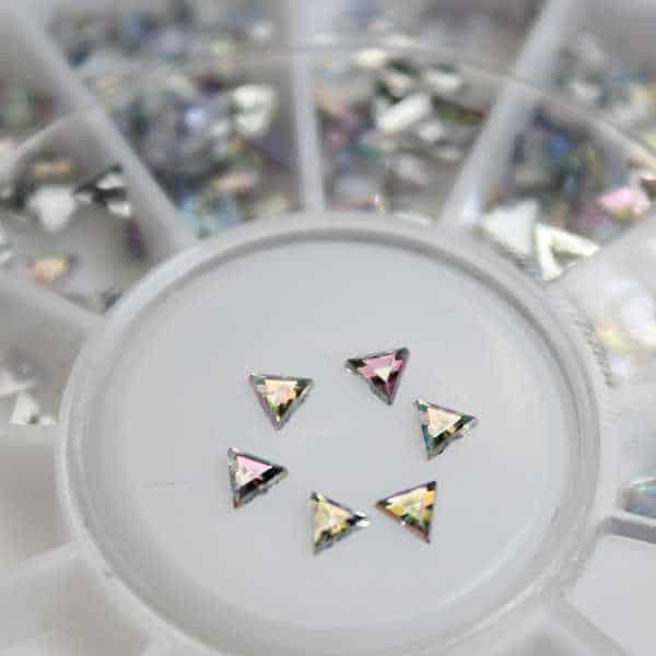 rueda de decoración de uñas triángulos cristal