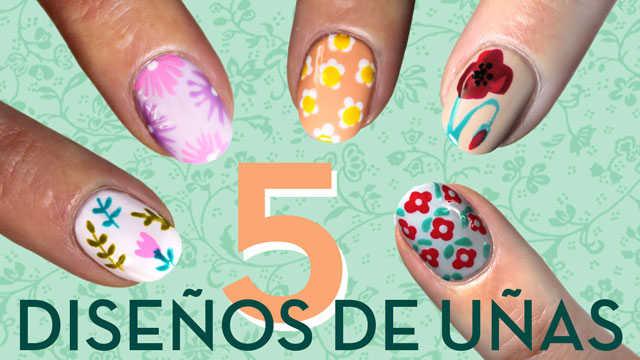 10 diseños de uñas con flores paso a paso
