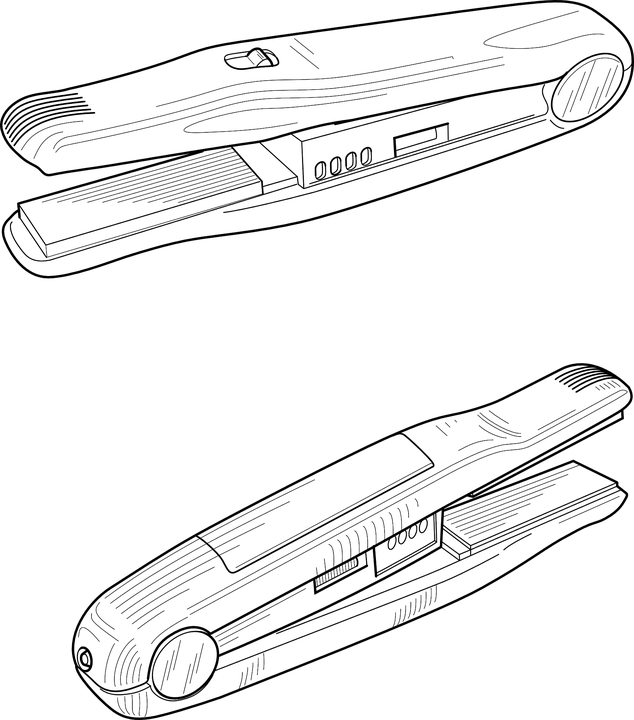 planchas de pelo vector