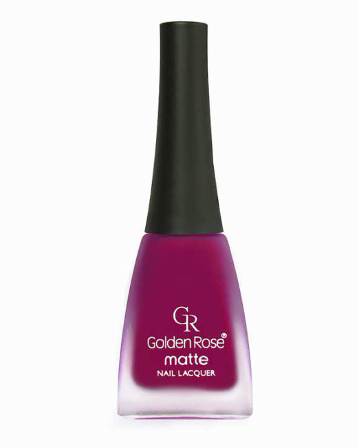 matte nail lacquer golden rose 04