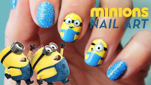 Minions nail art uñas paso a paso