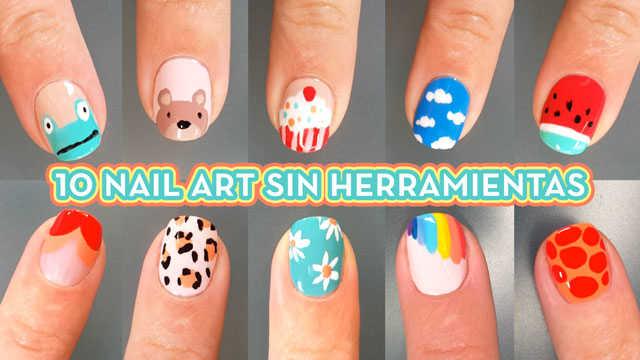 10 diseños de uñas sin herramientas facil