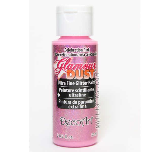 Pintura acrílica la Americana dgd10 celebration pink rosa celebración glamour dust