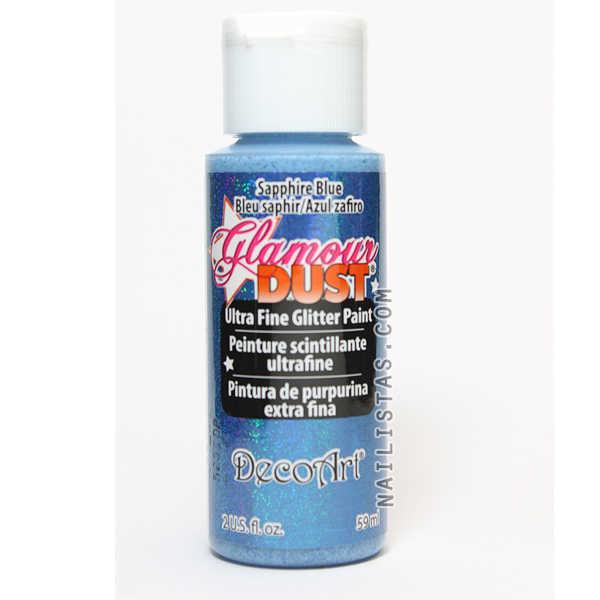 pintura acrilica la americana dgd11 saphire blue azul zafiro glamour dust