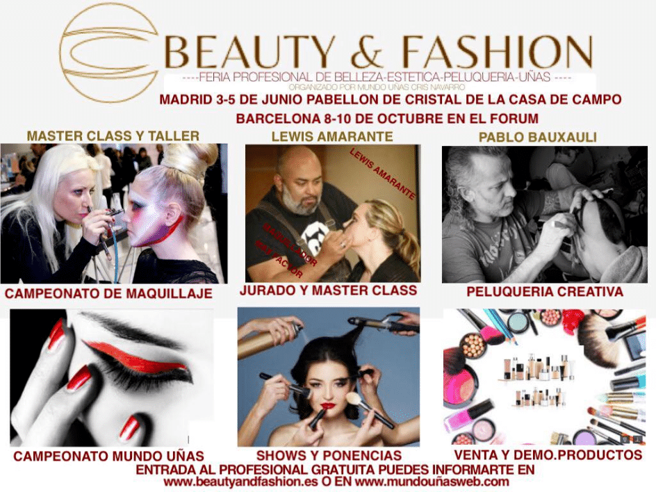 Beauty and Fashion Madrid 2016 feria belleza Junio