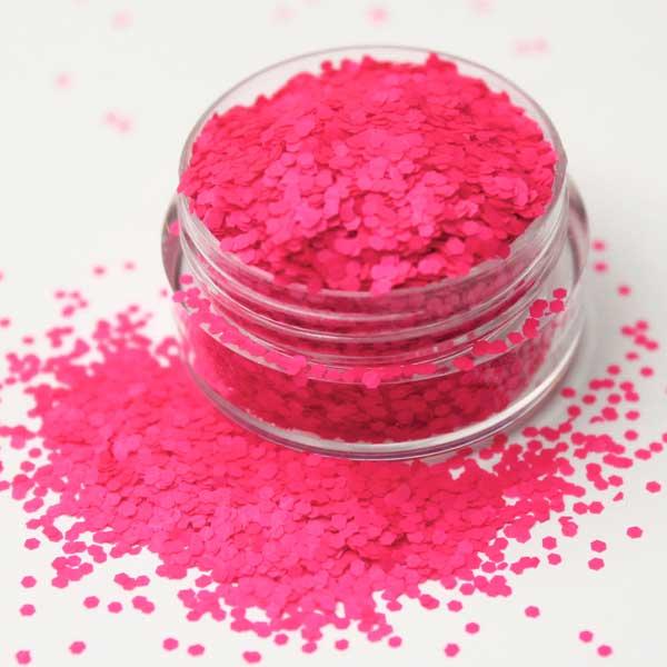 Decorar Con Purpurina.Purpurina Mate Hexagonos Rosa Neon