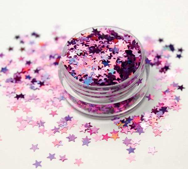 purpurina forma estrella holográfico