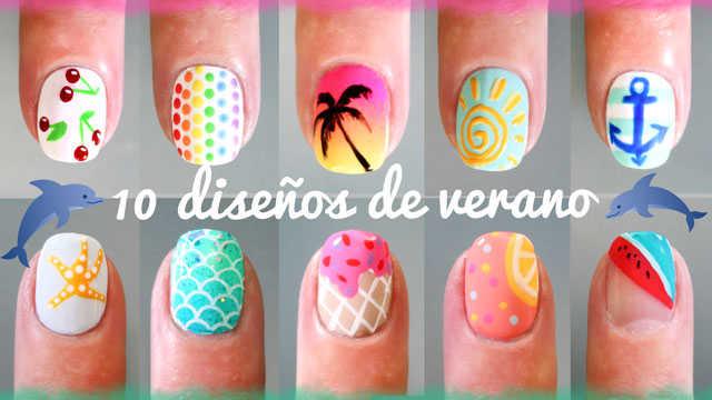 10 diseños de uñas de verano paso a paso