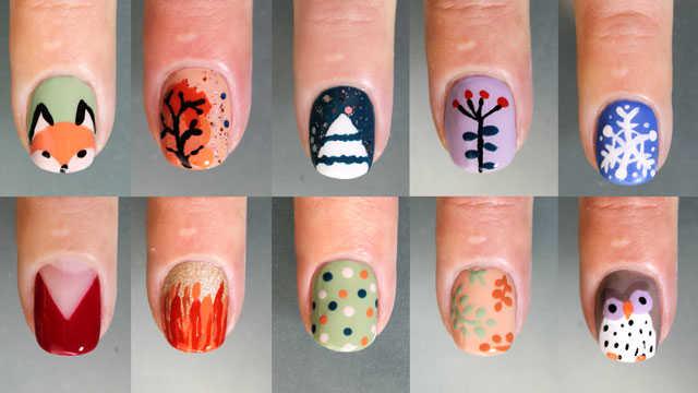 10 diseños de uñas decoradas sin herramientas