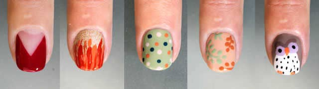 5 diseñod e uñas decoardas otoño